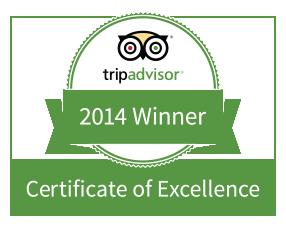 Certificado de Excelência 2014 Trip Advisor Natura Algarve